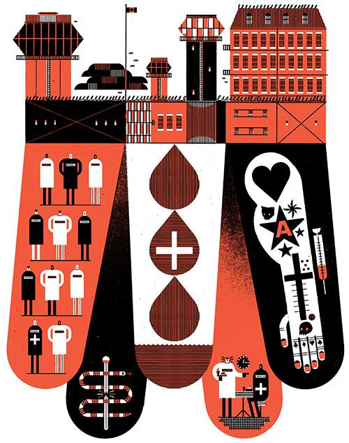 "Raymond Beisinger illustration for ""Behind the Walls."""