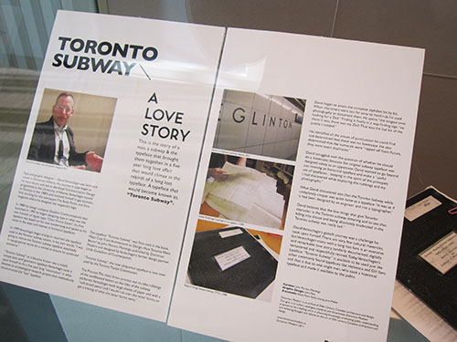Display boards from Dominion Modern's Toronto Subway exhibit.